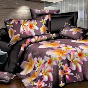 Pościel 3D Pluszowa - Kwiaty Jak Gwiazdy - 160x200 cm - 4 cz 804-08