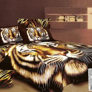Pościel 3D - Spojrzenie tygrysa - 220x200 cm - 3 cz - AD-107-03