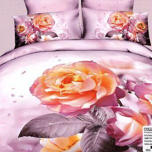 Pościel 3D - Herbaciane róże - 220x200cm - 3 cz - COL-363