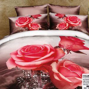 Pościel 3D - Koralowe róże  - 220x200cm - 3 cz - COL-394