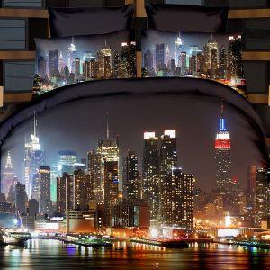 Pościel 3D - Życie Nocne - 160x200 cm - 4 cz - 717-02