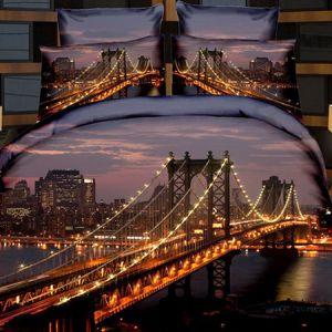 Pościel 3D - Most Brookliński - 220x200 cm - 4 cz - 236-05