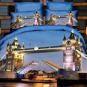 Pościel 3D - Most Londyński - 160x200 cm - 3 cz - 237-02