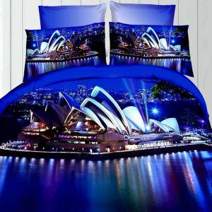 Pościel 3D - Opera Sydney - 160x200 cm - 4 cz - 237-03
