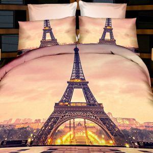 Pościel 3D - Wieża w Paryżu - 220x200 cm - 3 cz - 237-07