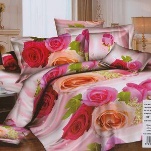 Pościel 3D - Piękne Róże - 220x200 cm - 4 cz -1703-09