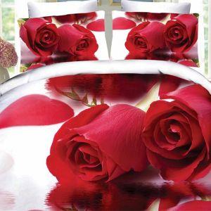 Pościel 3D - Czerwone Róże - 220x200 cm - 4 cz - 217-09