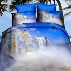 Pościel 3D - Wzburzony Wodospad - 160x200 cm - 3 cz - 250-05