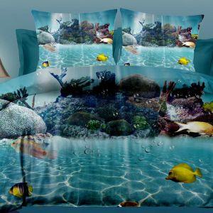 Pościel 3D - Podwodny Świat - 160x200 cm - 3 cz - 252-01