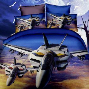 Pościel 3D - Myśliwce W Powietrzu - 160x200 cm - 3 cz - 254-03