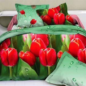 Pościel 3D - Wiosenne Tulipany - 160x200 cm - 4 cz - 740-05