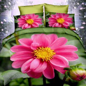 Pościel 3D - Różowa Gerbera - 160x200 cm - 3 cz - 283-01