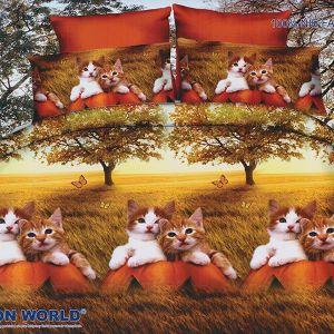 Pościel 3D - Słodkie Kociaki - 160x200 cm - 4 cz - 280-03