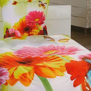 Pościel 3D - Kolorowe Kwiaty - 140x200 cm - 2 cz - 801-05