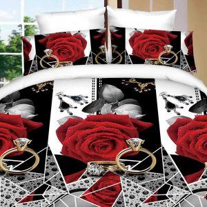 Pościel 3D - Czerwone Róże - 220x200 cm - 4 cz - 902-07
