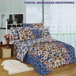 Pościel dwustronna - Kwiecista mozaika - 160x200 cm - 3cz - 146-01