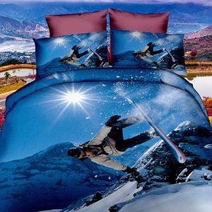 Pościel 3D - Snowboard - 160x200 cm - 3 cz - 249-02