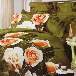 Pościel bawełniana - Anielskie róże - 220x200 cm - 3cz - 101-16