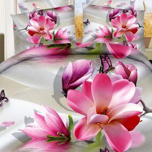 Pościel 3D - Cudowna Magnolia - 160x200 cm - 3 cz - 1711-04