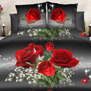 Pościel 3D - Magiczne Róże - 160x200 cm - 3 cz - 1711-06