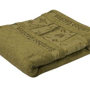 Ręcznik bambusowy - Garden - Zielony - 70 x 140 cm