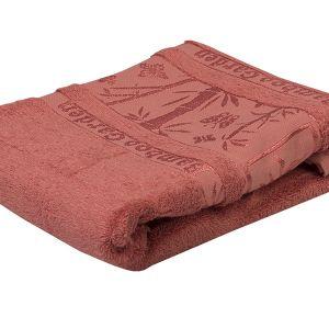 Ręcznik bambusowy - Garden - Koralowy - 70 x 140 cm