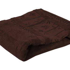 Ręcznik bambusowy - Garden - Brązowy - 70 x 140 cm