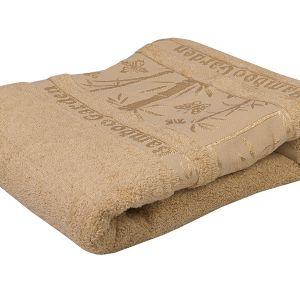 Ręcznik bambusowy - Garden - Beżowy - 70 x 140 cm