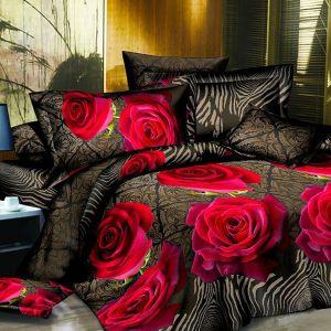 Pościel 3D - Czerwone Róże - 160x200 cm - 3 cz - 1713-01