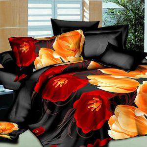 Pościel 3D - Kwiaty Tulipany - 160x200 cm - 3 cz - 1713-02