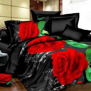 Pościel 3D - Wodne Róże - 160x200 cm - 3 cz - 1713-09