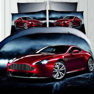 Pościel 3D - Bordowy Aston - 160x200 cm - 3 cz - 342-01