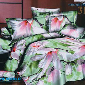 Pościel 3D - Delikatne Magnolie - 160x200 cm - 3 cz - 304-01