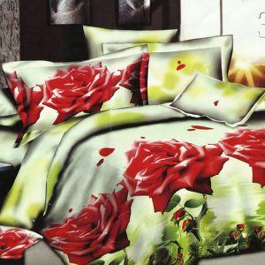Pościel 3D - Różany Krzak - 220x200 cm - 3 cz - 143-03
