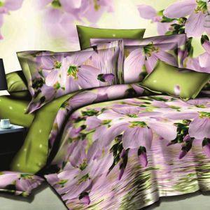 Pościel 3D - Kwiaty nad Wodą - 220x200 cm - 3 cz - 143-06