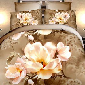 Pościel 3D - Kwitnąca Magnolia - 220x200 cm - 4 cz - 373-04