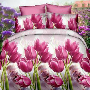 Pościel 3D - Tajemnicze Tulipany - 160x200 cm - 3 cz - 351-01