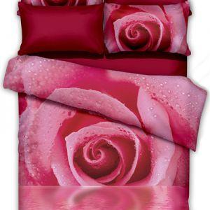 Pościel 3D - W Słodkim Różu - 160x200 cm - 3 cz - 351-05