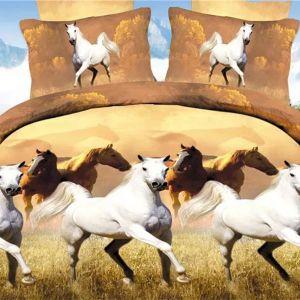 Pościel 3D - Dzikie Konie - 160x200 cm - 3 cz - 213-05