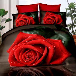 Pościel 3D - Zmysłowa Róża - 160x200 cm - 3 cz - 360-01