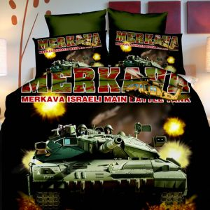 Pościel 3D - Wystrzałowy Czołg - 160x200 cm - 3 cz - 258-03