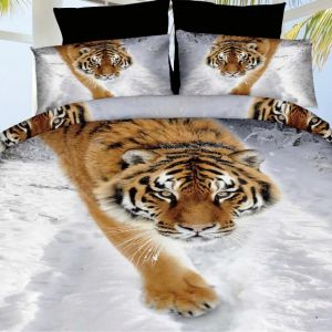 Pościel 3D - Czujmy Tygrys - 160x200 cm - 3 cz - 57-06