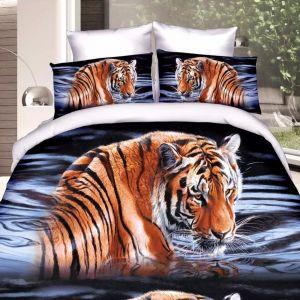 Pościel 3D - Wodny Tygrys - 220x200 cm - 3 cz - 57-04