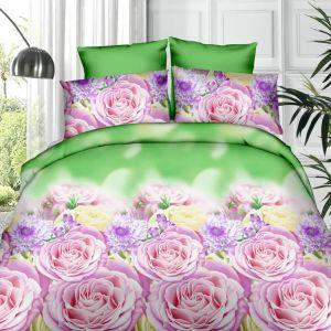 Pościel 3D - Kwiecisty Róż - 160x200 cm - 4 cz - 361-01