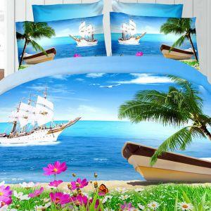 Pościel 3D - Rajska Plaża - 160x200 cm - 3 cz - 276-09