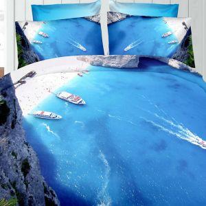 Pościel 3D - Egzotyczna zatoka - 160x200 cm - 3 cz - 276-08