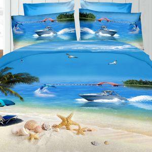 Pościel 3D - Piaszczysta Plaża - 160x200 cm - 3 cz - 276-06