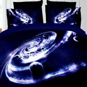 Pościel 3D - Galaktyka - 160x200 cm - 3 cz - 276-02