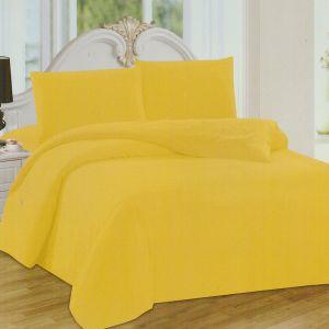 Pościel polarowa - Żółta Świeżość - 160x200 cm - 3cz - BE-Y-02