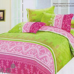Pościel bawełniana - Różowe Szlaczki - 160x200 cm - 4cz - 379-08